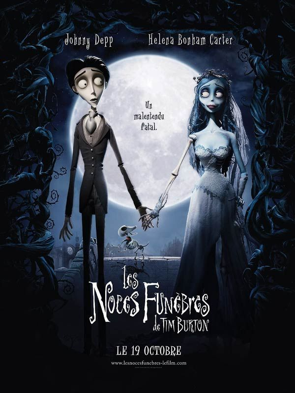 Affiche du film Les Noces funèbres (2004) de Mike Johnson & Tim Burton.