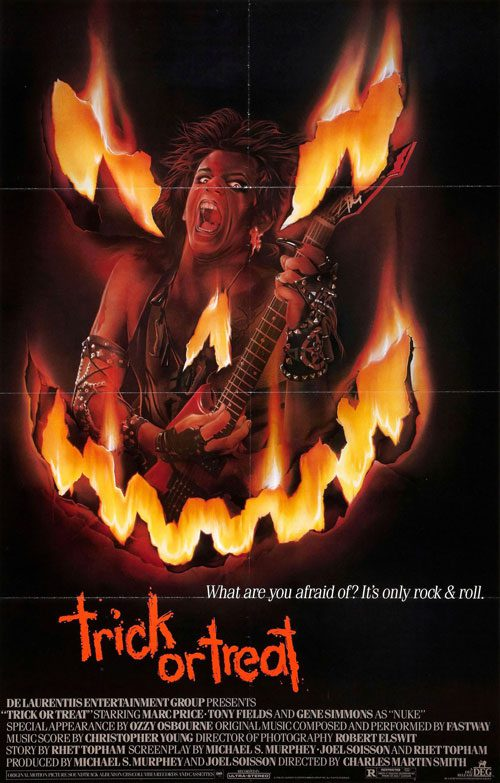 Affiche du film Trick or Treat (1986) de Charles Martin Smith.
